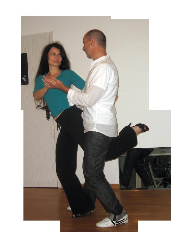 Tango Argenino Gancho im Colgada Style
