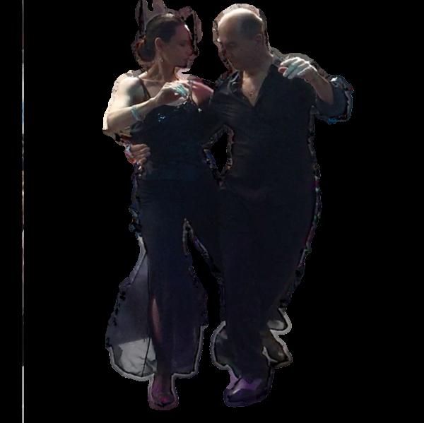Tango Argentino Figur Sacada bei Showauftritt von Patrizia und Michael